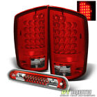 Fits 02-06 Ram 1500 2500 3500 Red Clear Lumileds LED Tail Lights+3rd Brake Lamp
