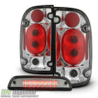 Chrome 2001 2002 2003 2004 Toyota Tacoma Pickup Tail Lights+LED 3rd Brake Light