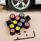 4x Car Wheels Tire Tyre Air Valve Stem Dust Cap Cover w/ Wrench Screws Accessory