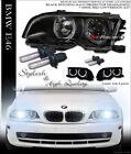 6000K HID XENON BLACK HALO PROJECTOR HEAD LIGHTS LAMPS 99/00-01 E46 2D 2DR COUPE