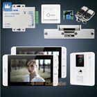 "HOMSECUR 7"" Video Door Phone Intercom System Electric Strike Lock Set Included"