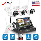 "4CH 960P Wireless Home Security System 1TB 1080P 7"" Monitor NVR WiFi IP Camera"