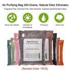 Air Purifying Bag Charcoal Color Natural Odor Eliminator Fragrance Odors E9V7