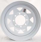 """16"""" White Spoke Trailer Wheel 8 Lug (8x6.5) Bolt Circle"""