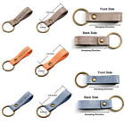 Genuine Leather Keyring Key Chains Personalised Text Engraved Custom 1.5x6.5CM