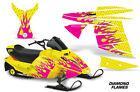 AMR Racing Ski Doo Mini Z Kids Snowmobile Wrap Sled Graphics Kit DIAMOND FLAME Y