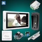 """HOMSECUR 7"""" Wired Video Door Phone Intercom System Electric Lock Supported"""