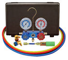 "Mastercool R134A A/C Manifold Gauge Set 60"" Hoses STANDARD Couplers 89660-UV"