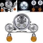 Universal 5.75'' LED Headlight Indicators 4.5'' Passing Lights Bar Kit Motor DOM