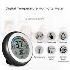 Round Intelligent Digital Temperature Humidity Meter Finger Touch Home Supply