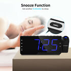 ZEEPIN Dimmable LED Digital Projector Clock Radio Alarm Snooze Timer Temperature