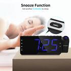 ZEEPIN Dimmable LED Digital Projector Clock Radio Alarm Snooze Timer Temperature