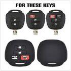 Silicone Car Key Cover Case Remote Fob Protector For Toyota Camry Corolla FA