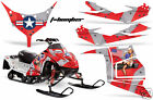 Snowmobile Graphics Kit Decal Sticker Wrap For Polaris Race IQ 600 TBOMBER RED