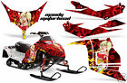 Snowmobile Graphics Kit Decal Sticker Wrap For Polaris Race IQ 600 MANDY RED
