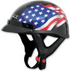 AFX FX-70 Flag Beanie Half Helmet Black Flag
