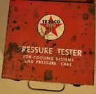Vintage TEXACO Pressure Tester For Cooling Systems in Original Metal Case & Book