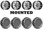 Kit 4 EFX MotoMTC Tires 28x10-15 on Sedona Badlands Machined Wheels IRS