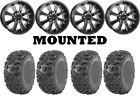 Kit 4 Kenda Bearclaw HTR K587 Tires 27x9-12/27x11-12 on Raceline Mamba Black POL