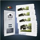 """7"""" Apartment Video&Audio Home Intercom With Mute Monitor for 4 Apartment"""
