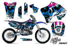 Graphics Kit Decal Wrap + # Plates For Yamaha YZ125 YZ250 1996-2001 FRENZY BLUE