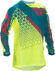 Fly Kinetic Mesh Trifecta Jersey Youth XL Hi Vis/Teal 370-328YX