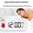 Temperature Sounds Control Plastic LED Electronic Digital Alarm Clock AAA