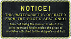 "Boat Marine Watercraft Is Operated Plaque 3"" W X 5-1/2"" H With Adhesive Backing"