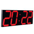 CHKOSDA Remote Control Jumbo Digital Led Wall Clock, Multifunction Led Clock,