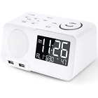 Alarm Clock Radio FM Digital Led Display Radio with USB Port Dimmer Snooze Sleep