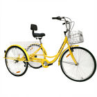 "7-Speed 26"" Adult 3-Wheel Tricycle Trike Bicycle Bike Cruise With Double Basket"