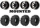 Kit 4 Arisun Tuff Mudder Tires 25x10-12 on Raceline Mamba Beadlock Machined ACT