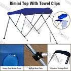3 Bow Boat Bimini Top Canopy Cover Free Clips 6 ft 73''-78'' Sun Shade BB3N3