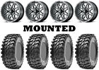 Kit 4 Maxxis Rampage Tires 32x10-14 on MSA M26 Vibe Machined Wheels CAN
