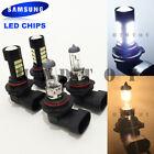 Combo Dot H10 Clear Halogen + H10 Samsung 42-LED 9145 9140 Bulbs #Ht6 Fog Light