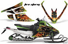 Snowmobile Graphics Kit Decal Wrap For Wrap Arctic Cat F Series Z1 FIRESTORM BLK