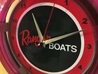 Ranger Fishing Boat Garage Advertising Neon Wall Clock Sign