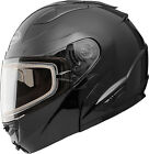 GMAX GM64S Modular Snow Carbide Helmet w/Electric Shield G464023 XS Black