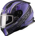 GMAX FF49 Elegence Snow Helmet G2492599 TC22 3XL Black/Purple