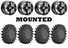 Kit 4 STI Outback Max Tires 30x9.5-14 on Sedona Rukus Grey Wheels 550
