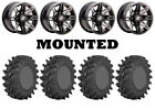 Kit 4 STI Outback Max Tires 30x9.5-14 on Sedona Rukus Grey Wheels 1KXP