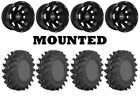 Kit 4 STI Outback Max Tires 28x9.5-14/28x10-14 on Sedona Spyder Black Wheels ACT