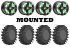 Kit 4 STI Outback Max Tires 30x9.5-14 on Sedona Rukus Green Wheels H700