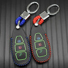Alloy+Leather Car Remote Key Cover  Accessories For Ford Kuga C-Max Focus Fiesta
