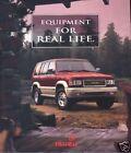 1996 ISUZU TROOPER RODEO OASIS SALES BROCHURE BOOK