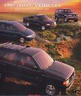 1997 ISUZU TROOPER HOMBRE RODEO SALES BROCHURE BOOK