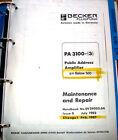Becker Flugfunk  PA 3100  -3  install & service manual for sn 500 & below
