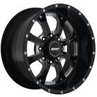 18x9 Black BMF Novakane 8x170 +0 Rims Nitto Dura Grappler LT275/70R18 Tires