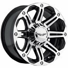 18x8.5 Super Finish Black American Eagle 50 5x150 +20 Rims Open Country AT II