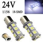 50X White 1156 BA15s P21W 1651 3496 18-SMD LED Car Backup Corner Light Bulb 24V